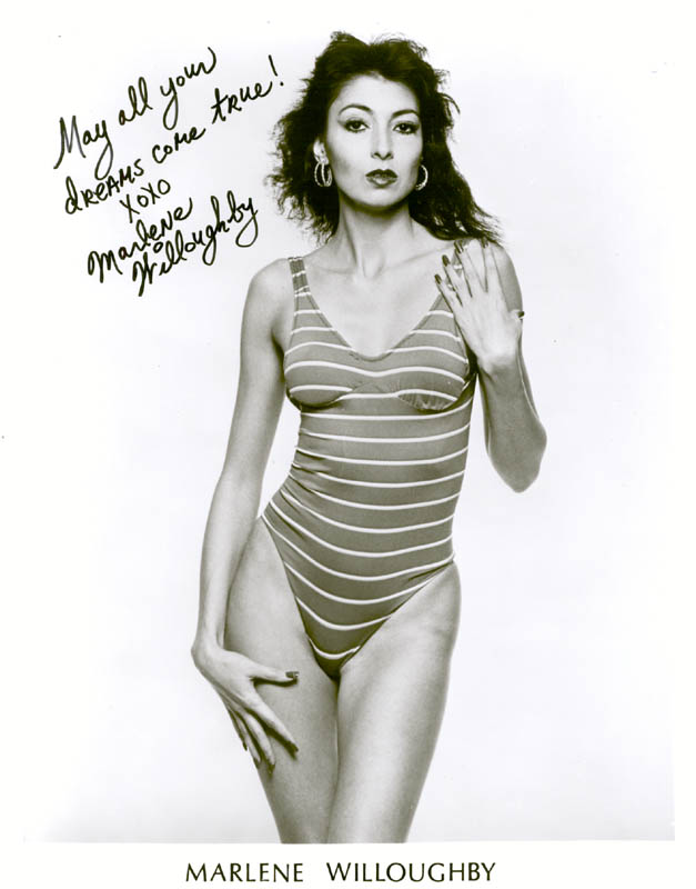 Marlene Willoughby Porn - MARLENE WILLOUGHBY - PRINTED PHOTOGRAPH SIGNED IN INK - HFSID 214195