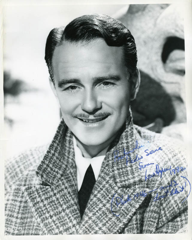 Image 1 for Lew Ayres - Autographed Inscribed Photograph 1982 - HFSID 214362