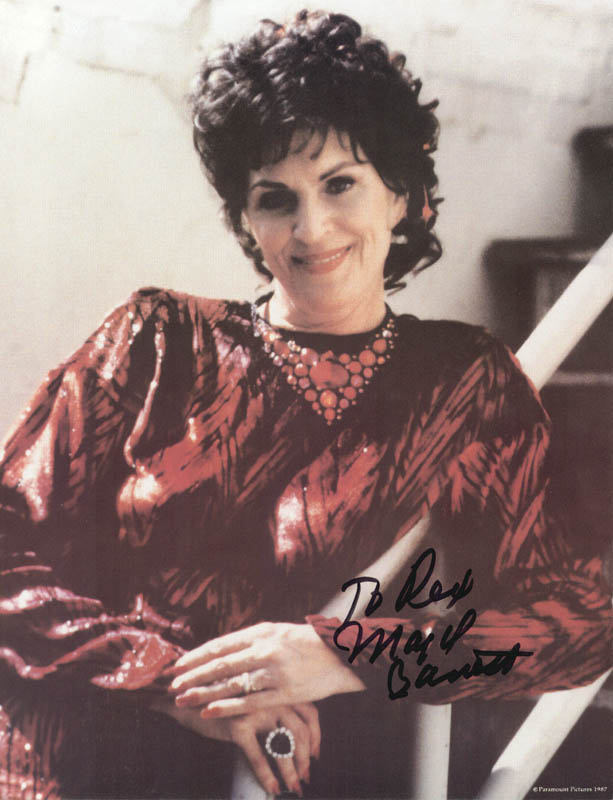 Image 1 for Majel Barrett - Autographed Inscribed Photograph - HFSID 214534