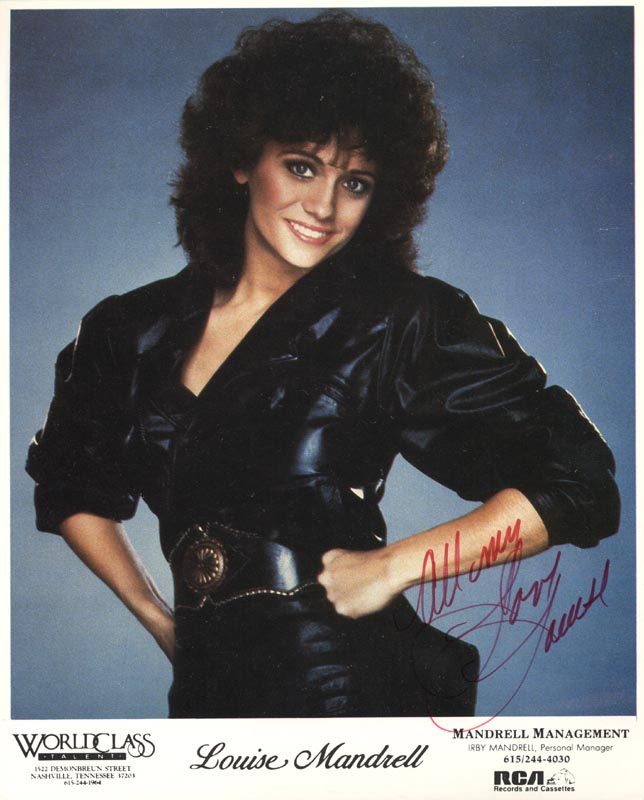 Image 1 for Louise Mandrell - Autograph Sentiment On Printed Photograph Signed - HFSID 214901