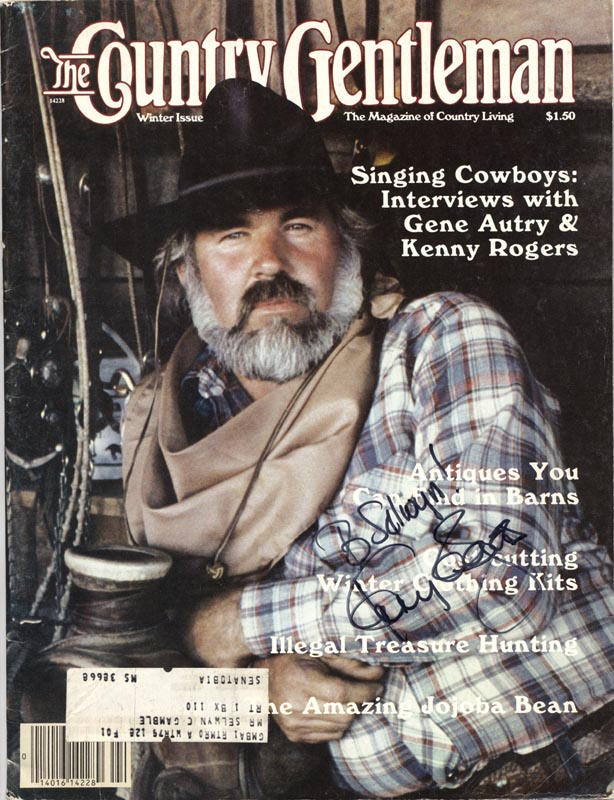 Image 1 for Kenny Rogers - Inscribed Magazine Cover Signed - HFSID 215127
