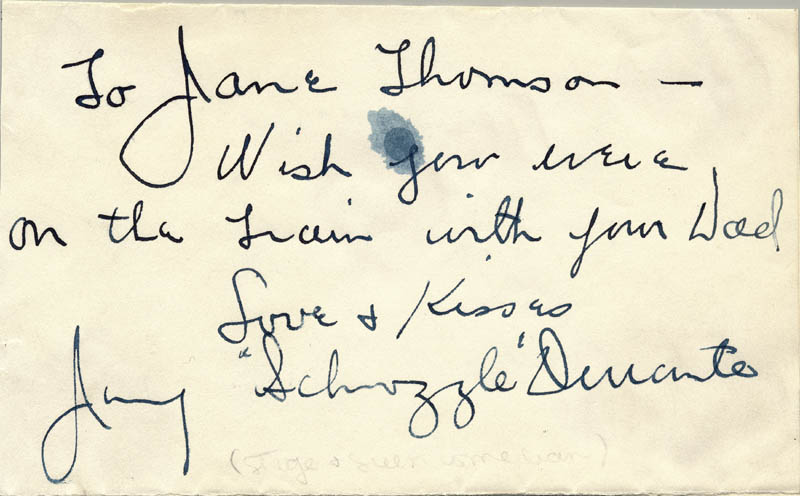 Image 1 for Jimmy 'Schnozzola' Durante - Autograph Note Signed - HFSID 2152