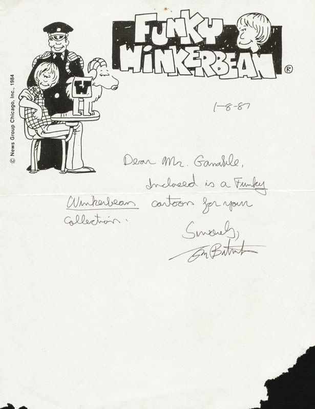 Image 1 for Tom Batiuk - Autograph Letter Signed 01/08/1987 - HFSID 215352