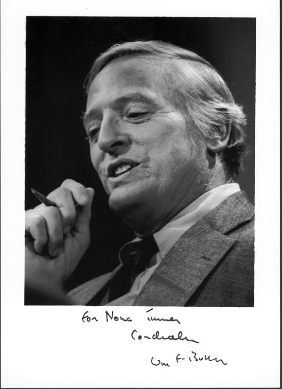 Image 1 for William F. Buckley Jr. - Autographed Inscribed Photograph - HFSID 215603