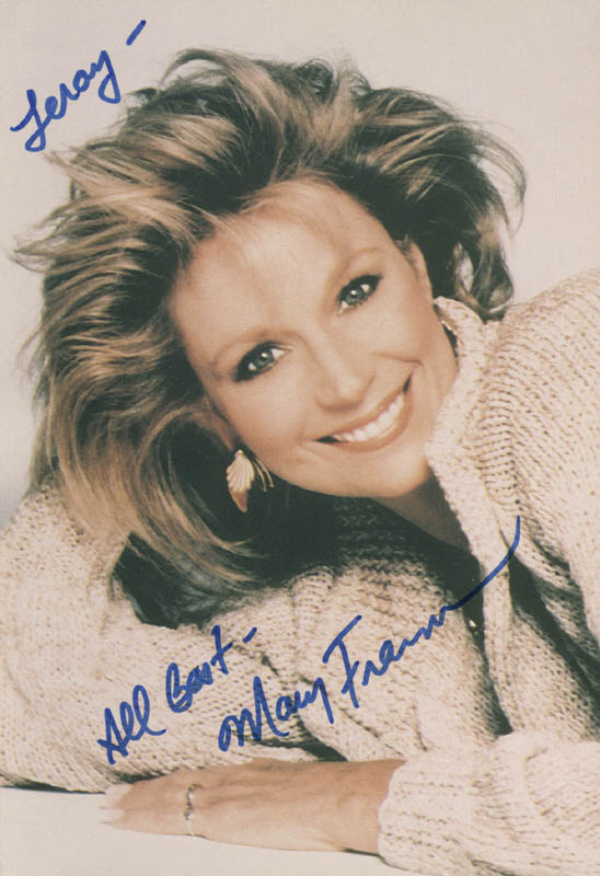 Image 1 for Mary Frann - Autographed Inscribed Photograph - HFSID 215673