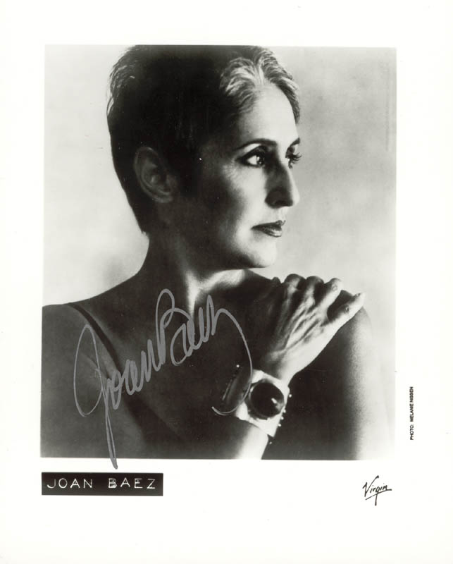 Image 1 for Joan Baez - Autographed Signed Photograph - HFSID 215706