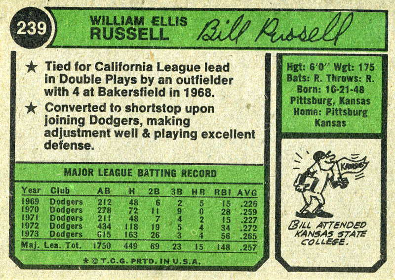 Image 3 for Bill Russell - Trading/Sports Card Signed - HFSID 21611