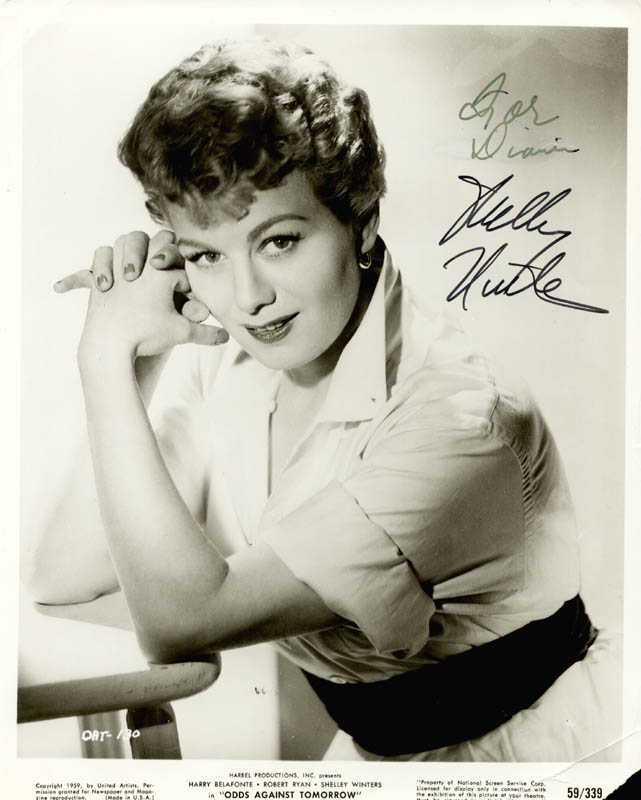 Image 1 for Shelley Winters - Autographed Inscribed Photograph - HFSID 216123