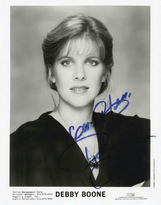 Image 1 for Debby Boone - Autographed Signed Photograph - HFSID 216132