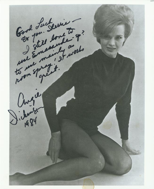 Image 1 for Angie Dickinson - Autographed Inscribed Photograph 1984 - HFSID 216182