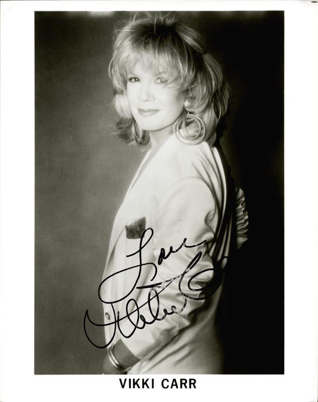 Image 1 for Vikki Carr - Autographed Signed Photograph - HFSID 216251