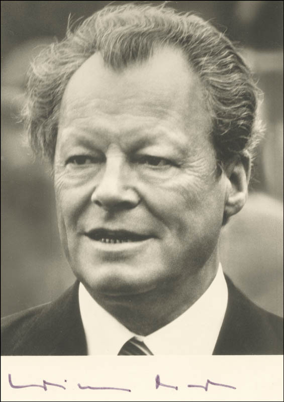 Image 1 for Chancellor Willy Brandt (Germany) - Autographed Signed Photograph - HFSID 216320
