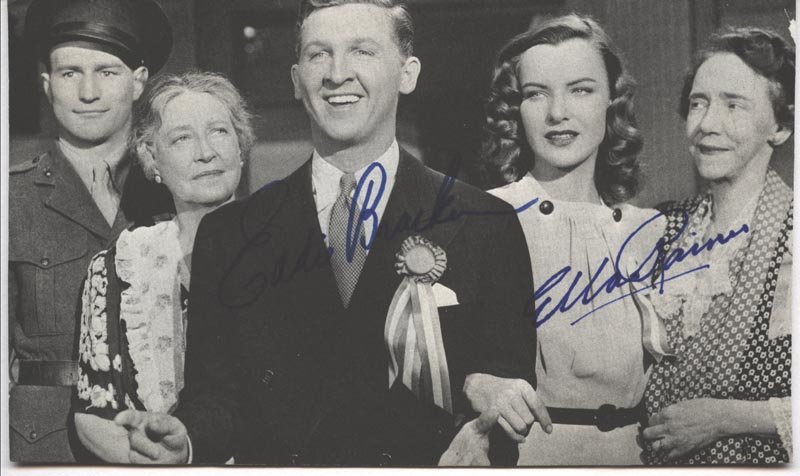Image 1 for Hail The Conquering Hero Movie Cast - Autographed Signed Photograph co-signed by: Eddie Bracken, Ella Raines - HFSID 216655