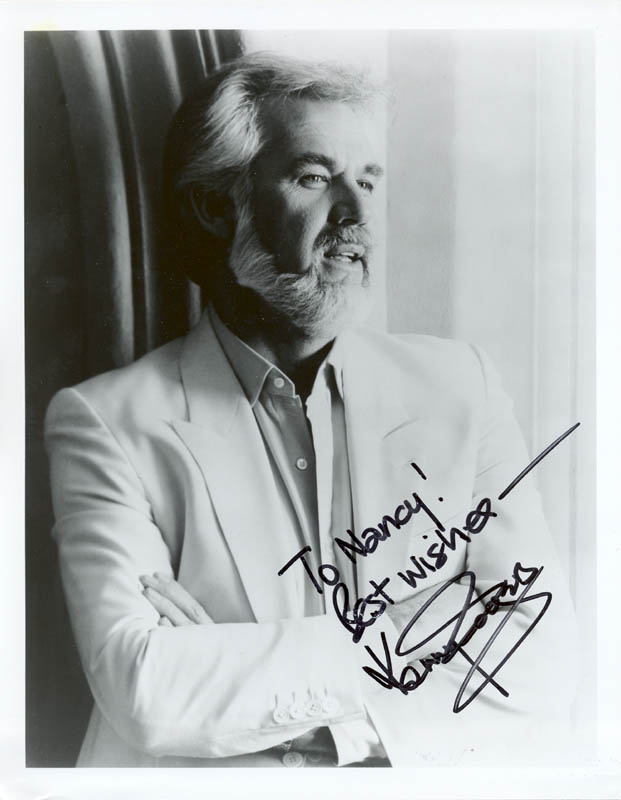 Image 1 for Kenny Rogers - Autographed Inscribed Photograph - HFSID 216692