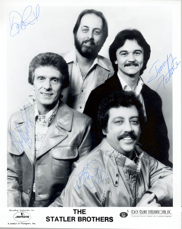 Image 1 for The Statler Brothers - Autographed Signed Photograph with co-signers - HFSID 216712