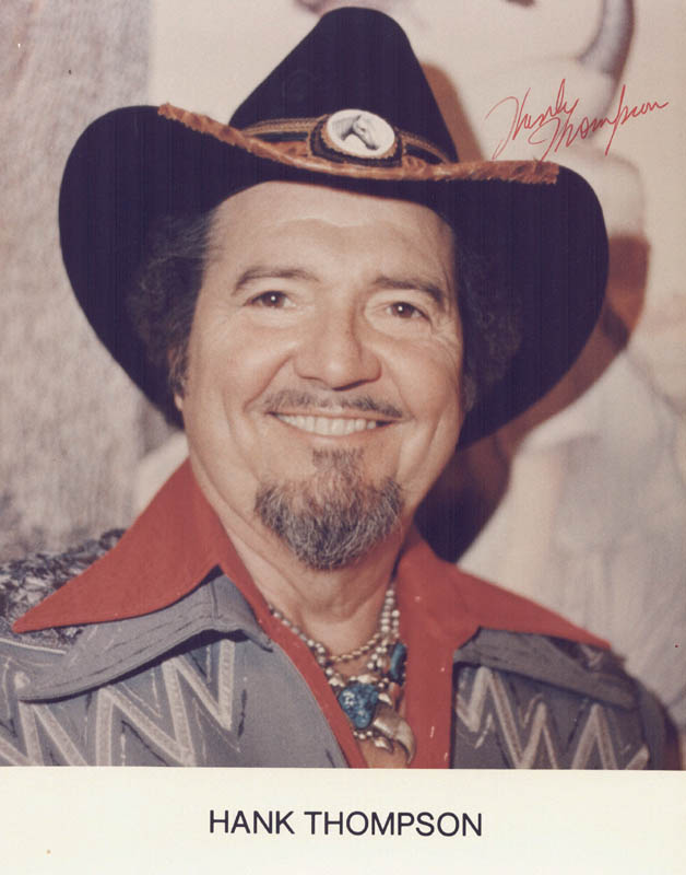 Image 1 for Hank Thompson - Autographed Signed Photograph - HFSID 216776