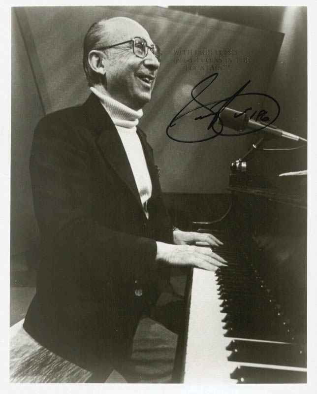 Image 1 for Sammy Cahn - Autographed Signed Photograph 1986 - HFSID 216849