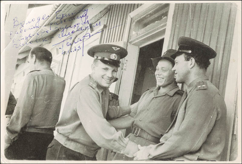 Image 1 for Colonel Yuri Gagarin - Autographed Inscribed Photograph 07/04/1963 - HFSID 217278