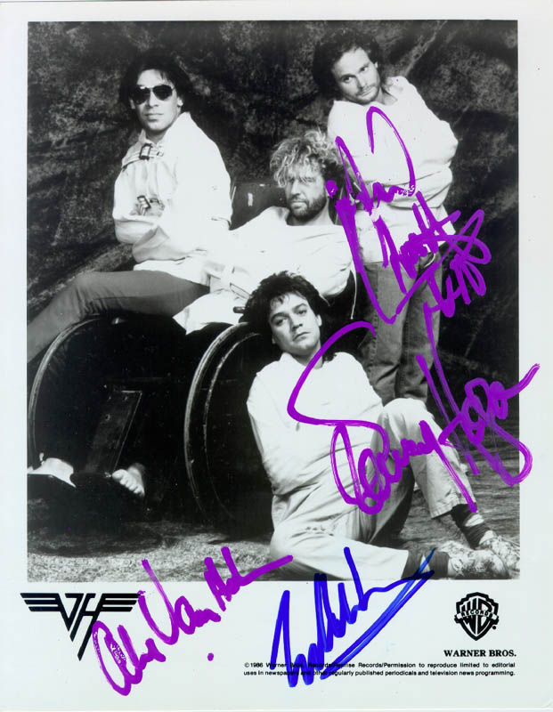 Van Halen Autographed Signed Photograph With Co Signers Historyforsale Item 217593