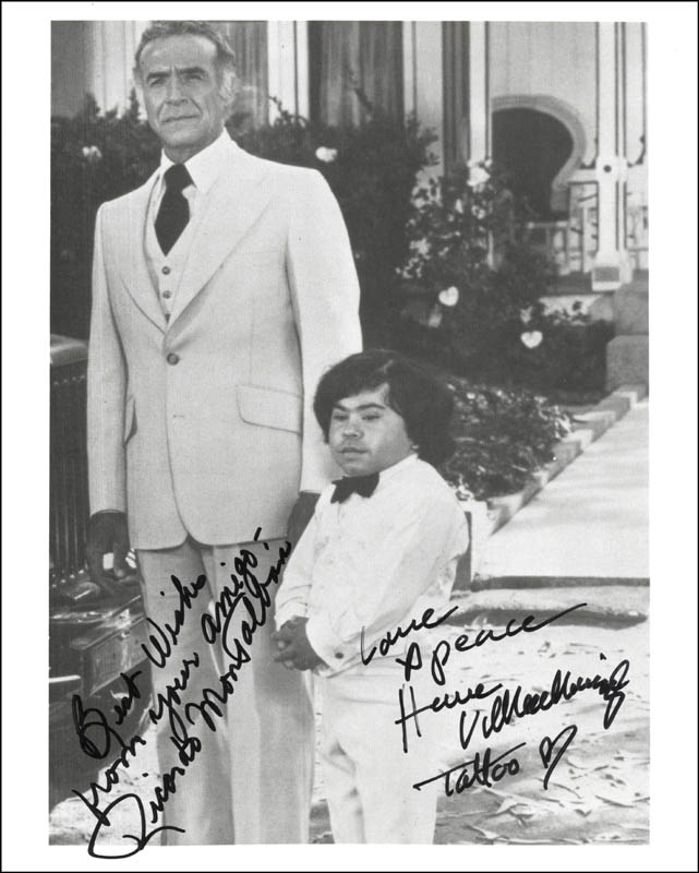 Image 1 for Fantasy Island TV Cast - Autographed Signed Photograph co-signed by: Ricardo Montalban, Herve Villechaize - HFSID 217596