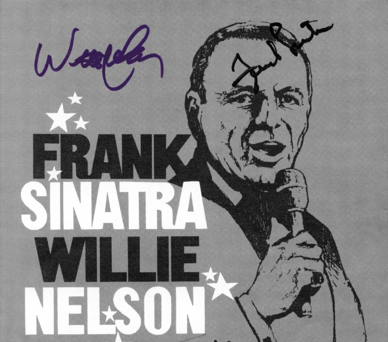 Image 1 for Frank Sinatra - Program Signed co-signed by: Willie Nelson - HFSID 217609