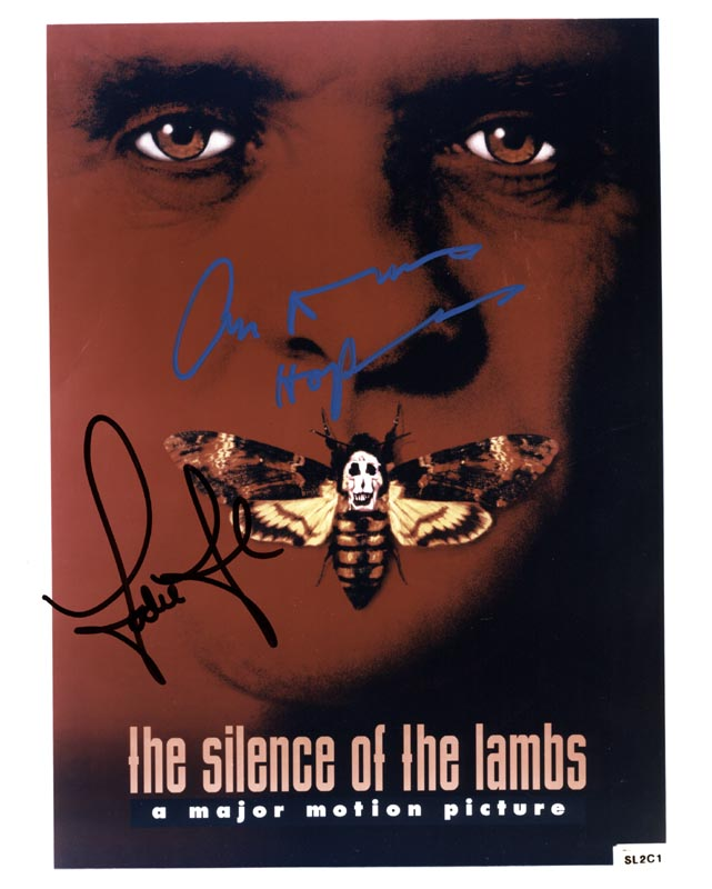 Image 1 for Silence Of The Lambs Movie Cast - Autographed Signed Photograph co-signed by: Anthony Hopkins, Jodie Foster - HFSID 217675
