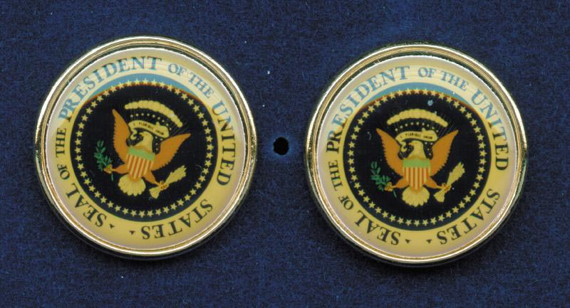 Image 1 for President George H.W. Bush - Cufflinks Unsigned - HFSID 217743