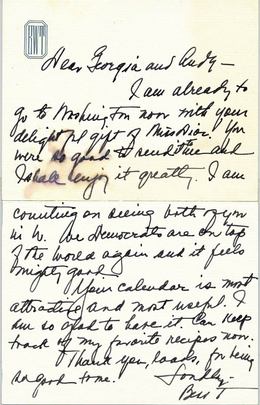 Image 1 for First Lady Bess W. Truman - Autograph Letter Signed - HFSID 217798
