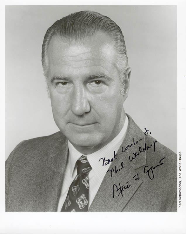 Image 1 for Vice President Spiro T. Agnew - Autographed Inscribed Photograph - HFSID 217799
