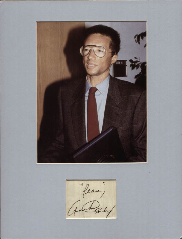 Image 1 for Arthur Ashe - Autograph Sentiment Signed - HFSID 217821