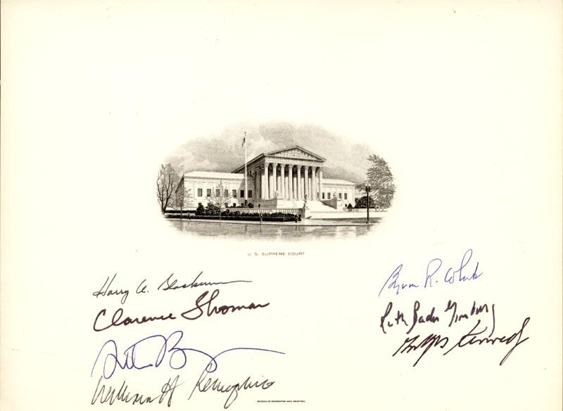 Image 1 for The William H. Rehnquist Court - Supreme Court Engraving Signed with co-signers - HFSID 217945