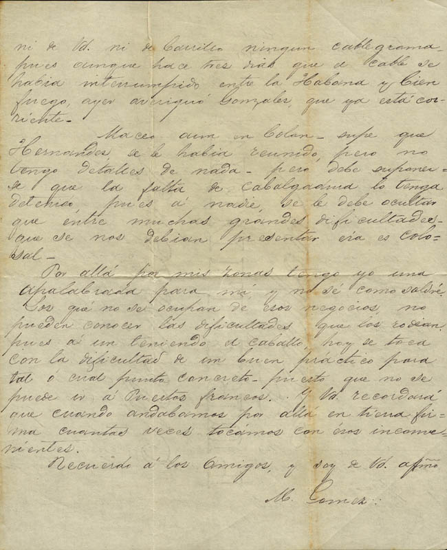 Image 1 for General Maximo Gomez Y Baez - Autograph Letter Signed - HFSID 218084