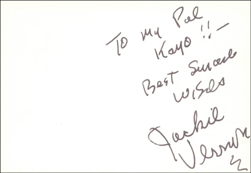 Image 1 for Jackie Vernon - Autograph Note Signed - HFSID 21970