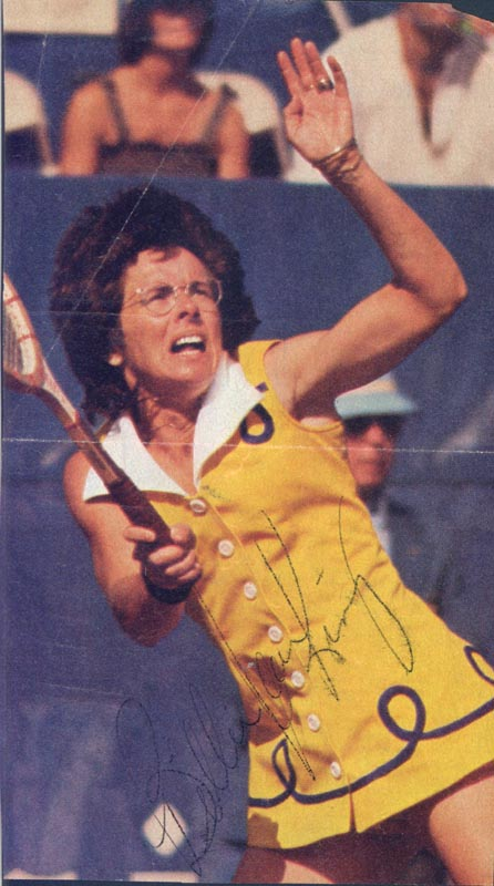Image 1 for Billie Jean King - Magazine Photograph Signed - HFSID 2199