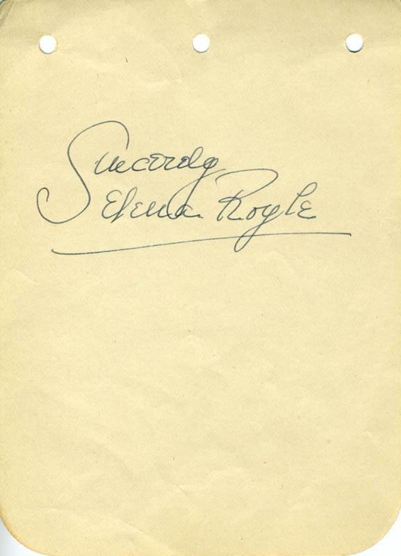 Image 1 for Selena Royle - Autograph Sentiment Signed - HFSID 22066
