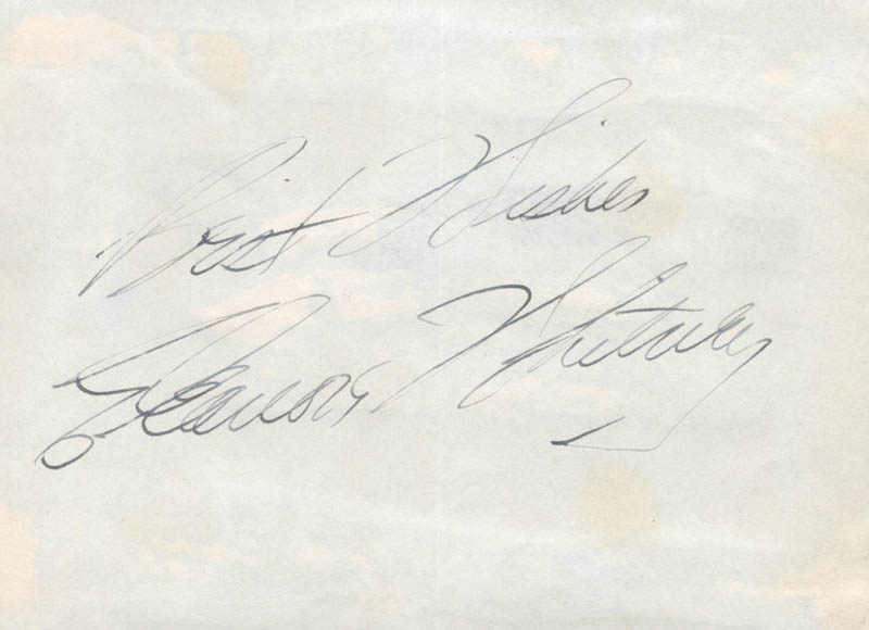 Image 1 for Eleanore Whitney - Autograph Sentiment Signed - HFSID 22103