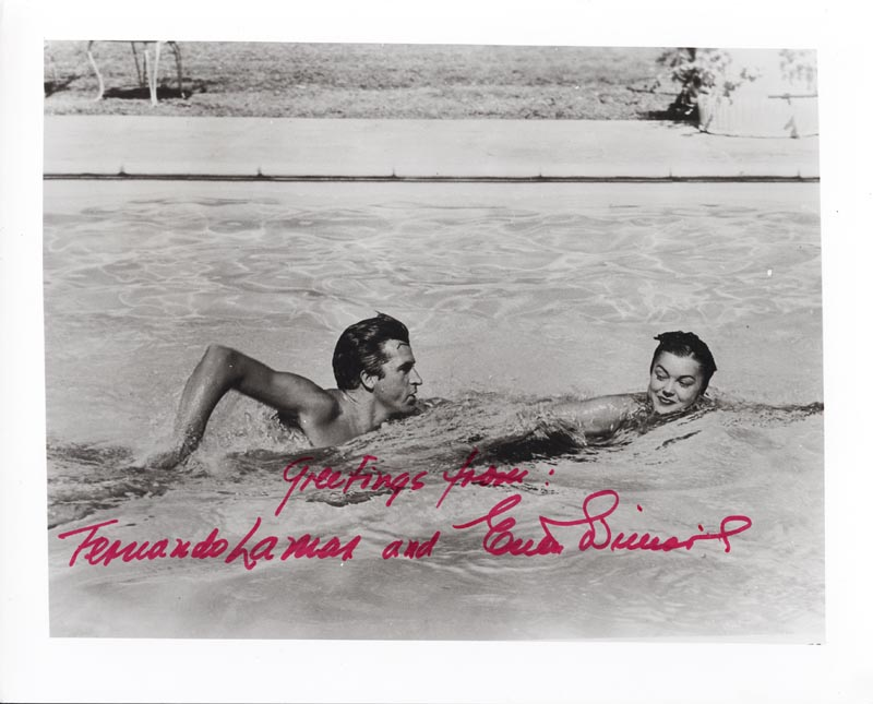 Image 1 for Esther Williams - Autographed Signed Photograph co-signed by: Fernando Lamas - HFSID 221533