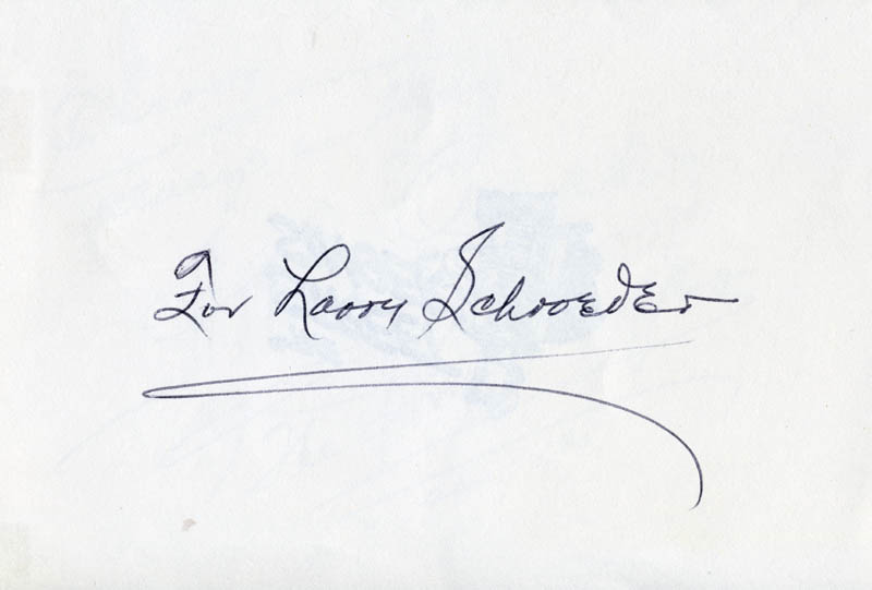 Image 3 for Arthur Tracy - Autograph Note Signed 04/02/1980 - HFSID 221599