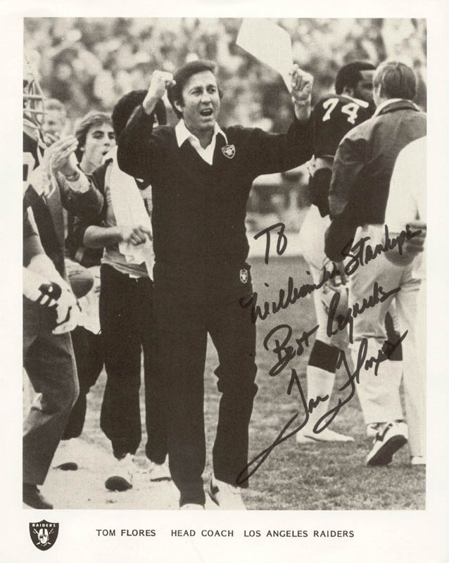 Image 1 for Tom Flores - Autographed Inscribed Photograph - HFSID 221751