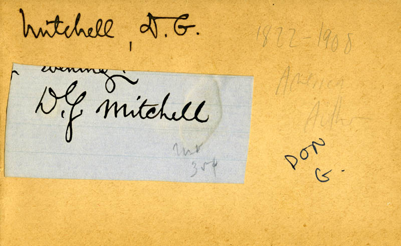 Image 1 for Donald Grant Mitchell - Autograph - HFSID 222152