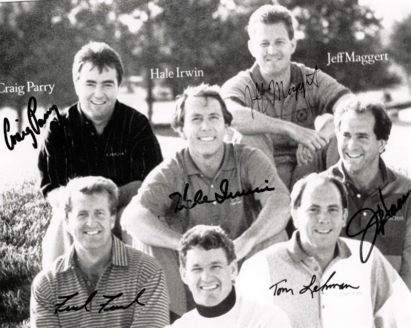 Image 1 for Hale Irwin - Autographed Inscribed Photograph co-signed by: Jeff Maggert, Fred Funk, Jay Haas, Craig Parry, Tom Lehman - HFSID 222172
