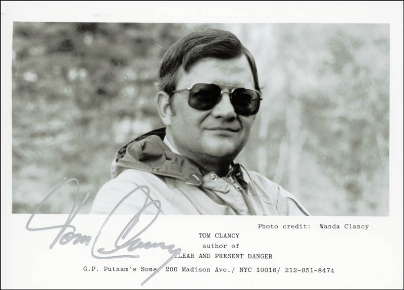 Image 1 for Tom Clancy - Autographed Inscribed Photograph Circa 1984 - HFSID 222258