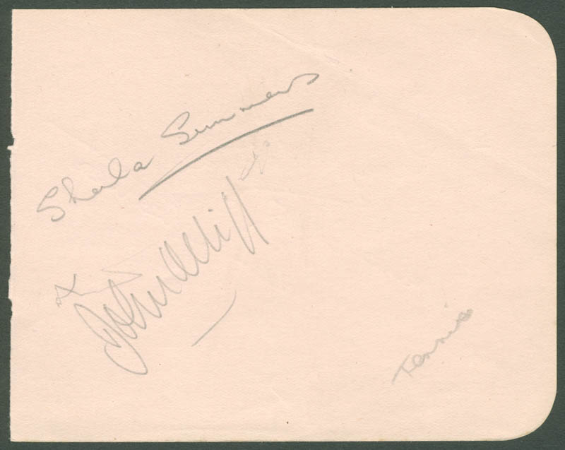 Image 3 for Sheila Summers - Autograph co-signed by: Jean Quertier - HFSID 222343