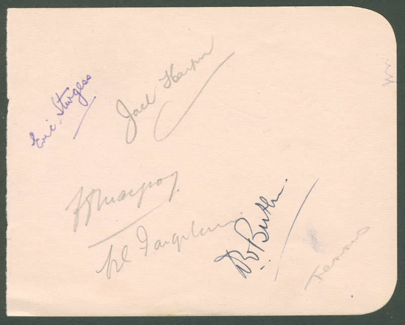 Image 3 for Betty Hilton - Autograph co-signed by: Dennis Slack, Chris Jones, Ermyntrude Hilda Harvey, Eric William Sturgess, Jack Harper - HFSID 222344
