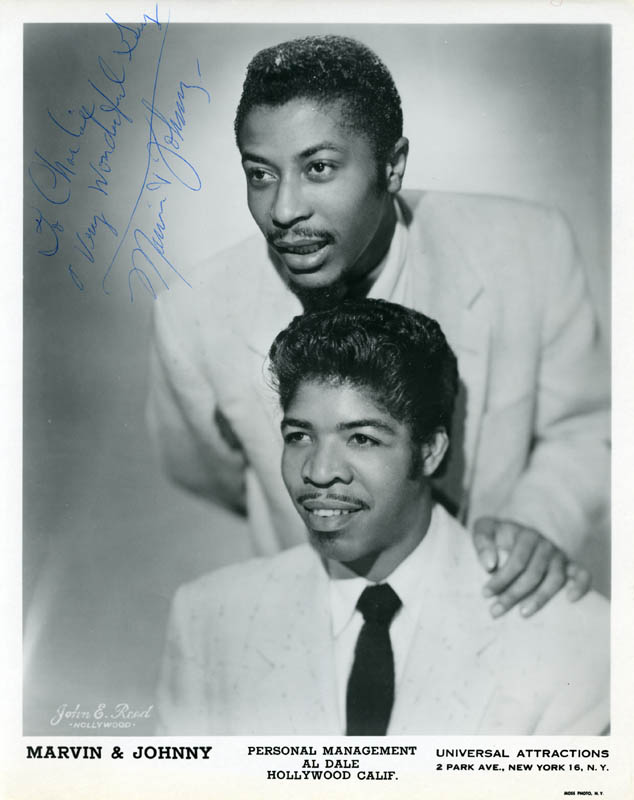 Image 1 for Marvin & Johnny - Inscribed Printed Photograph Signed In Ink with co-signers - HFSID 222432