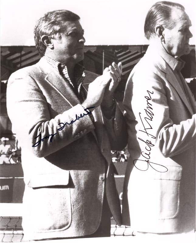 Image 1 for Tony Trabert - Autographed Signed Photograph co-signed by: Jack Kramer - HFSID 222488
