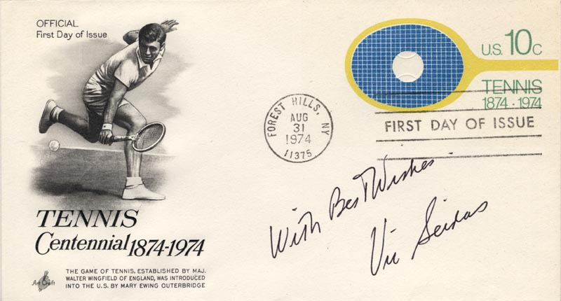 Image 1 for Vic (Elias Victor) Seixas Jr. - Autograph Sentiment On First Day Cover Signed - HFSID 222496