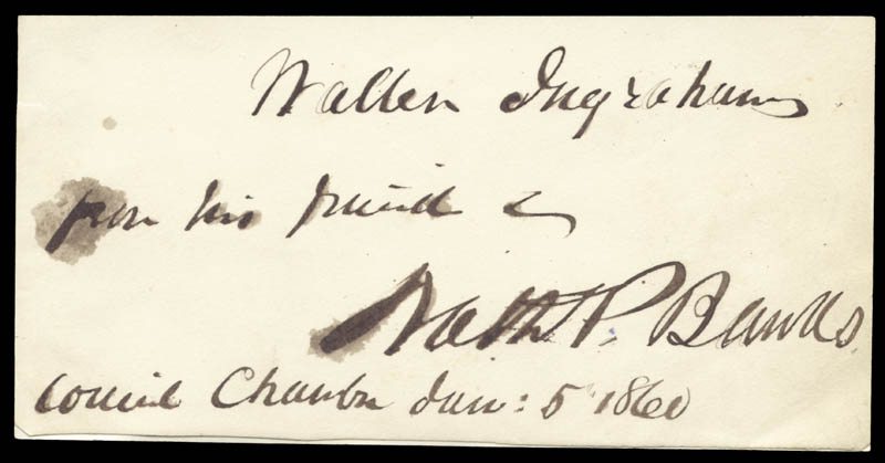 Image 1 for Major General Nathaniel P. Banks - Autograph Note Signed 06/05/1860 - HFSID 22290