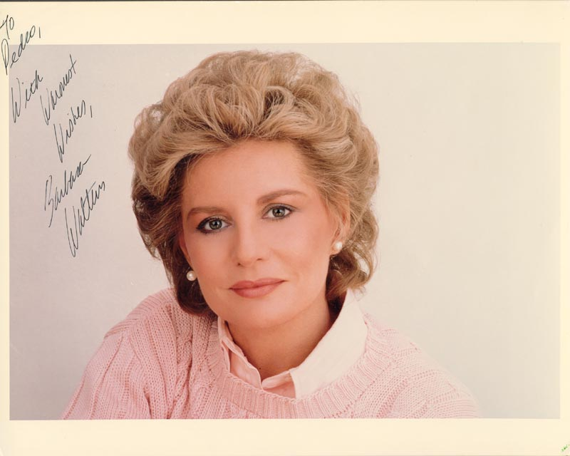 Image 1 for Barbara Walters - Autographed Inscribed Photograph - HFSID 222916