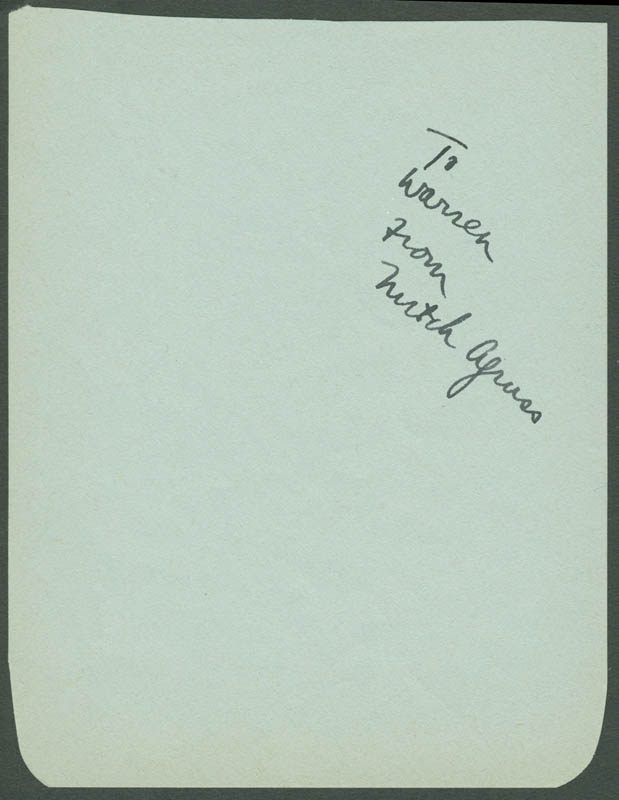Image 1 for Mitchell Agruss - Inscribed Signature - HFSID 223427
